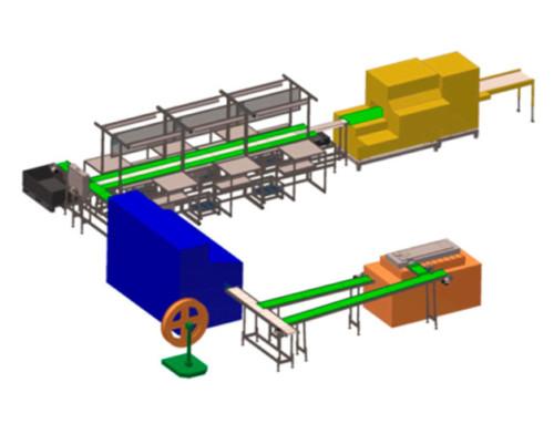 Förderanlage für Stanz- und Formteile